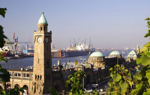 Landungsbrücken, Hamburg, Alster, Nord-Tyskland, Tyskland