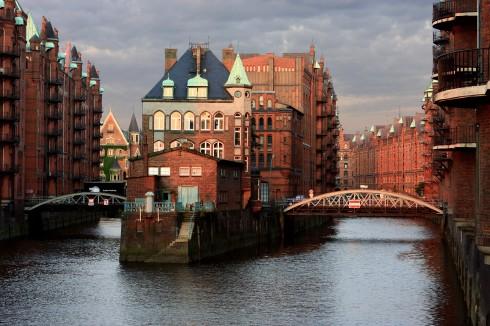Speicherstadt, Hamburg, Alster, Nord-Tyskland, Tyskland