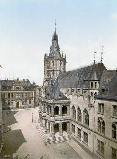 Rathaus, Rådhus, Altstadt, Köln, Nordrhein-Westfalen, Vest-Tyskland, Tyskland