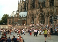 Kölner Dom, Altstadt, Köln, Nordrhein-Westfalen, Vest-Tyskland, Tyskland