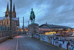 Kölner Dom, Hauptbahnhof, Altstadt, Köln, Nordrhein-Westfalen, Vest-Tyskland, Tyskland