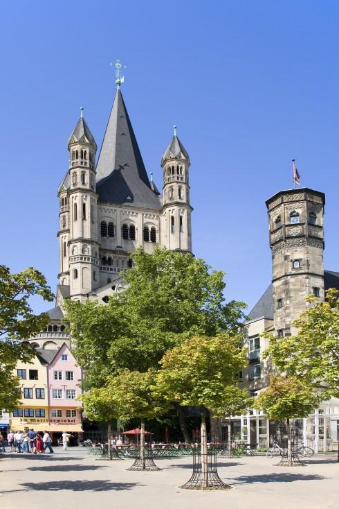 Gross St Martin, Stapelhaus, Altstadt, Köln, Nordrhein-Westfalen, Vest-Tyskland, Tyskland