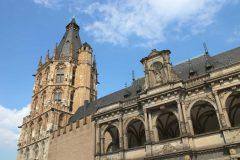 Det gamle rådhuset, Altstadt, Köln, Nordrhein-Westfalen, Vest-Tyskland, Tyskland
