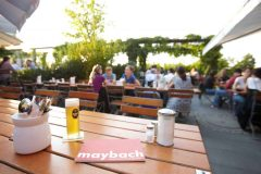 Biergarten Maybach, Altstadt, Köln, Nordrhein-Westfalen, Vest-Tyskland, Tyskland