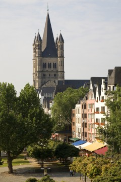 Gross St Martin, Martinviertel, Altstadt, Köln, Nordrhein-Westfalen, Vest-Tyskland, Tyskland