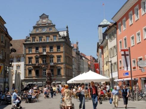 Marktstätte, Middelalder, Konstanz, Bodensee, Sør-Tyskland, Tyskland