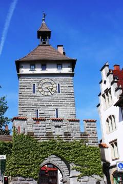 Schnetztor, middelalder, Konstanz, Bodensee, Sør-Tyskland, Tyskland