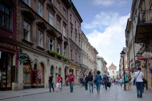 Krakow, Unesco Verdensarv, gamlebyen Stare Miasto, Basilica Santa Maria, historisk bydel, middelalder, markedsplass Rynek Glowny, Sør-Polen, Polen