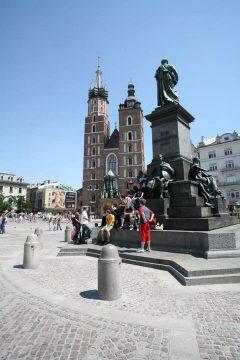 Krakow, Unesco Verdensarv, Sukiennice, Basilica Santa Maria, gamlebyen Stare Miasto, historisk bydel, middelalder, markedsplass Rynek Glowny, Wawelborgen, Kazimierz, Sør-Polen, Polen