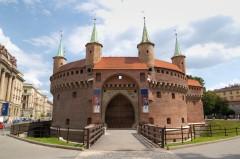 Barbican, Krakow, Unesco Verdensarv, gamlebyen Stare Miasto, historisk bydel, middelalder, markedsplass Rynek Glowny, Sør-Polen, Polen