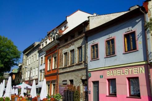 Kazimierz, Krakow, Unesco Verdensarv, gamlebyen Stare Miasto, historisk bydel, middelalder, markedsplass Rynek Glowny, Sør-Polen, Polen