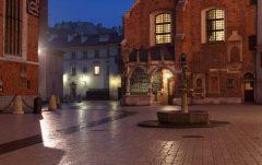 Mariackaplassen, Krakow, Unesco Verdensarv, gamlebyen Stare Miasto, historisk bydel, middelalder, markedsplass Rynek Glowny, Sør-Polen, Polen