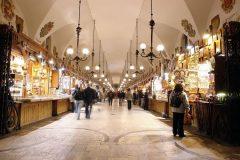 Sukiennice, Krakow, Unesco Verdensarv, gamlebyen Stare Miasto, historisk bydel, middelalder, markedsplass Rynek Glowny, Sør-Polen, Polen