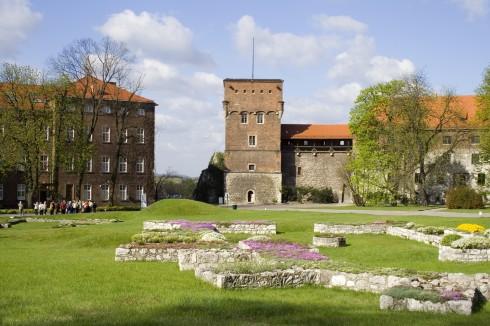 Wawelborgen, rester katedral, Krakow, Unesco Verdensarv, gamlebyen Stare Miasto, historisk bydel, middelalder, markedsplass Rynek Glowny, Sør-Polen, Polen