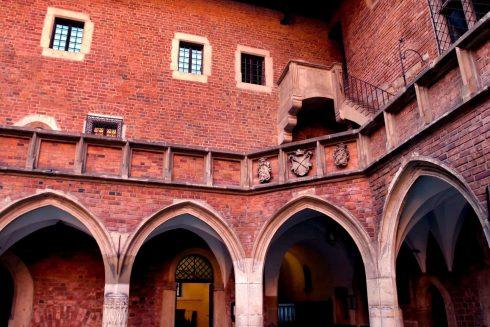 Universitet, gotisk stil, Krakow, Unesco Verdensarv, gamlebyen Stare Miasto, historisk bydel, middelalder, markedsplass Rynek Glowny, Sør-Polen, Polen