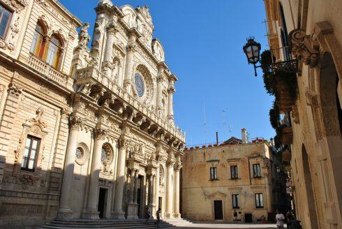 Chiesa Santa Croce, barokk, Lecce, Puglia, Sør-Italia, Italia