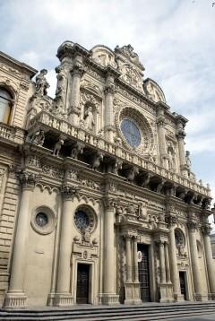 Chiesa Santa Croce, Lecce, Puglia, Sør-Italia, Italia