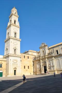 Duomo campanile, Lecce, Puglia, Sør-Italia, Italia