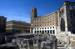 Palazzo del Seggio o Sedile fra 1400-tallet, Lecce, Puglia, Sør-Italia, Italia