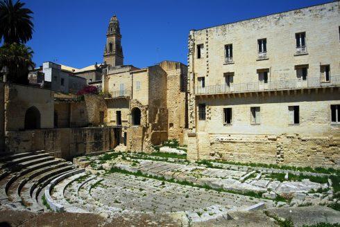 Teater, romertid, Lecce, Puglia, Sør-Italia, Italia