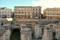 romersk amfiteater, keiser Hadrian, Lecce, Puglia, Sør-Italia, Italia