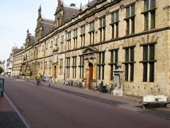 renessansefasade, Stadthuis, Leiden, Zuid-Holland, Sør-Nederland, Nederland