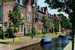 Doelengracht , Leiden, Zuid-Holland, Sør-Nederland, Nederland