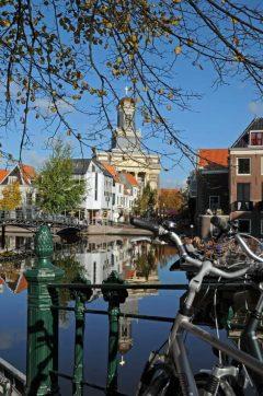 kanaler og gamle sykler, Leiden, Zuid-Holland, Sør-Nederland, Nederland