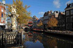 Kanaler, Leiden, Zuid-Holland, Sør-Nederland, Nederland