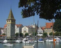 Mangenturm fra år 1180, Historisk, Lindau, Bodensee, Sør-Tyskland, Tyskland