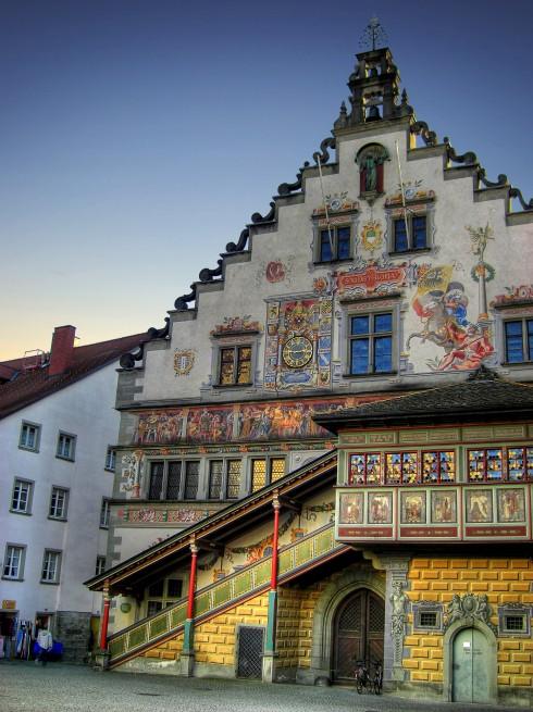 Altes Rathaus, Historisk, Lindau, Bodensee, Sør-Tyskland, Tyskland