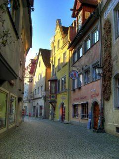 In der Grub, Altstadt, Historisk, Lindau, Bodensee, Sør-Tyskland, Tyskland