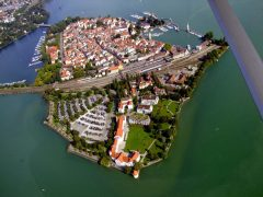 Lindau Insel, Historisk, Lindau, Bodensee, Sør-Tyskland, Tyskland