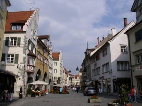 Maximilianstrasse, Historisk, Lindau, Bodensee, Sør-Tyskland, Tyskland
