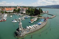 Historisk, Lindau, Bodensee, Sør-Tyskland, Tyskland