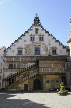 Rathaus, Altstadt, Historisk, Lindau, Bodensee, Sør-Tyskland, Tyskland