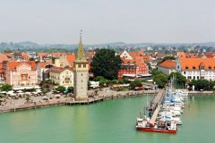 Altstadt, Historisk, Lindau, Bodensee, Sør-Tyskland, Tyskland