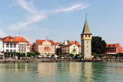 Mangenturm, fra år 1180, Altstadt, Historisk, Lindau, Bodensee, Sør-Tyskland, Tyskland