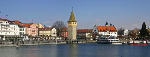 Havnen, Altstadt, Historisk, Lindau, Bodensee, Sør-Tyskland, Tyskland