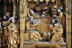 Zwarte-altar mit Madonna, Marienkirche, Hansestadt Lübeck, Schleswig-Holstein, Hansaforbundet, Unesco Verdensarv, Altstadt, Historisk, Middelalder, Markt, Nord-Tyskland, Tyskland