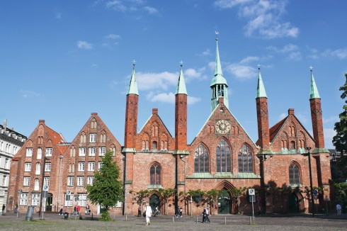 Heiliger-Geist-Hospital, Hansestadt Lübeck, Schleswig-Holstein, Hansaforbundet, Unesco Verdensarv, Altstadt, Historisk, Middelalder, Markt, Nord-Tyskland, Tyskland