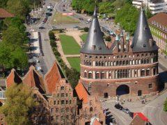 Holstentor, Hansestadt Lübeck, Schleswig-Holstein, Hansaforbundet, Unesco Verdensarv, Altstadt, Historisk, Middelalder, Markt, Nord-Tyskland, Tyskland