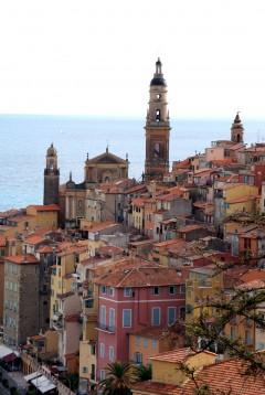 St Michels, Menton, Alpes Maritimes, Provence, Cote d'Azur, Sør-Frankrike, Frankrike