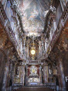 Asamkirche, rokokko, Altstadt, München, Bayern, Sør-Tyskland, Tyskland