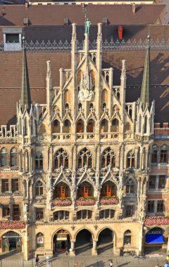 Gotisk portal, Neues Rathaus, Altstadt, München, Bayern, Sør-Tyskland, Tyskland