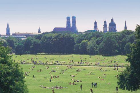 Englischer Garten, München, Bayern, Sør-Tyskland, Tyskland
