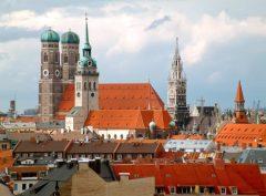 Frauenkirche, Neues Rathaus, Alter Peter, Altstadt, München, Bayern, Sør-Tyskland, Tyskland