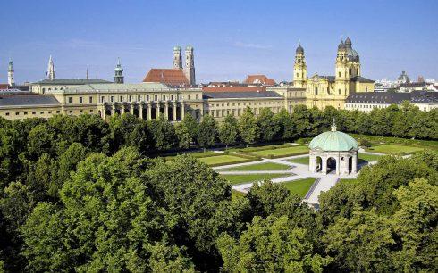 Hofgarten, Altstadt, München, Bayern, Sør-Tyskland, Tyskland