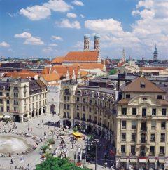 Karlsplatz, Karlstor, Altstadt, München, Bayern, Sør-Tyskland, Tyskland