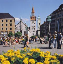 Marienplatz, Altes Rathaus, Altstadt, München, Bayern, Sør-Tyskland, Tyskland